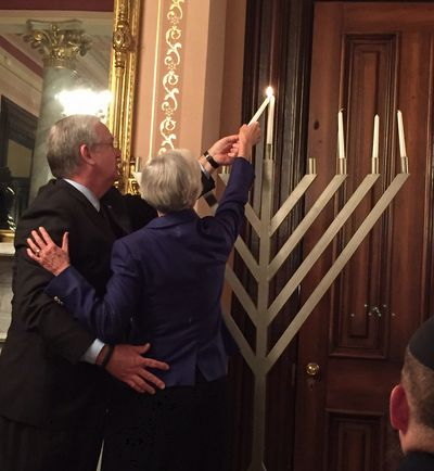 Governor's Menorah Lighting